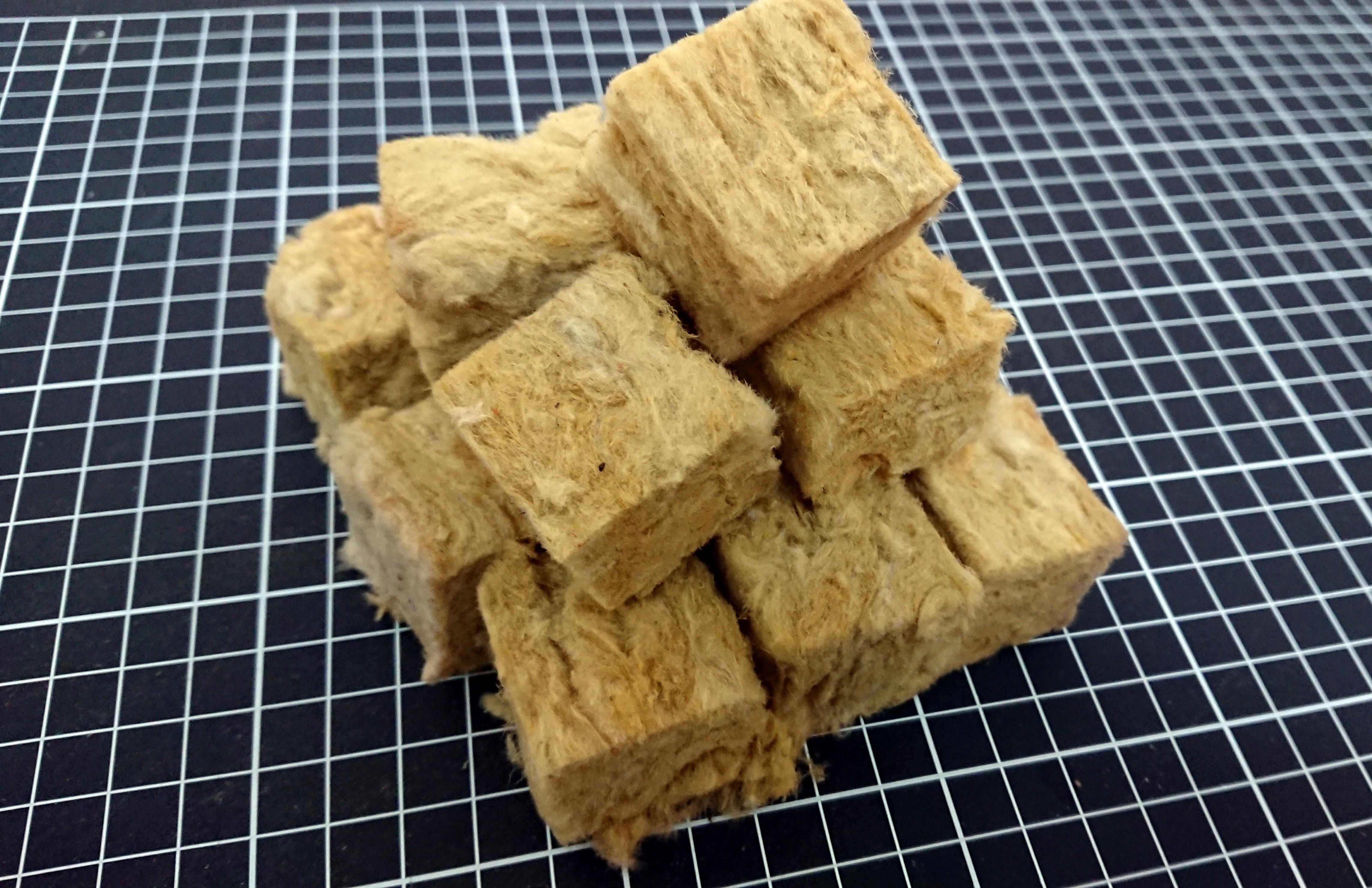 圖二、岩棉為玄武岩、焦煤及石灰石等經高溫下製成