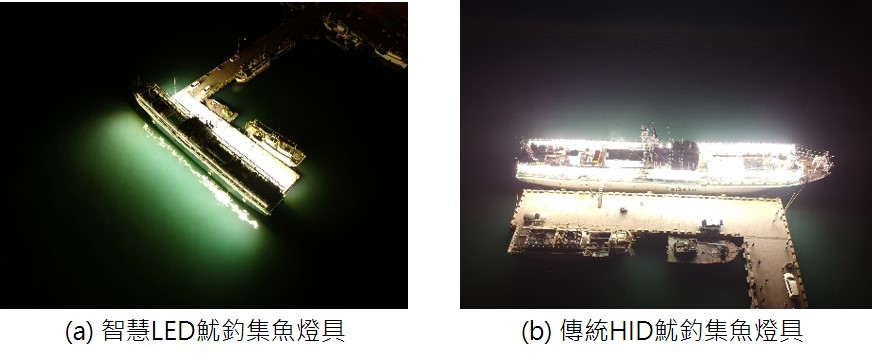 圖5.傳統HID燈具與LED燈具的實際照度圖