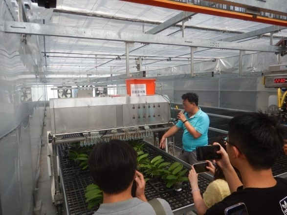 The system is demonstrated at the Orchid Industry Highlights – Demonstration of Smart Agriculture